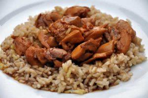 Poulet émincé au riz au cookeo