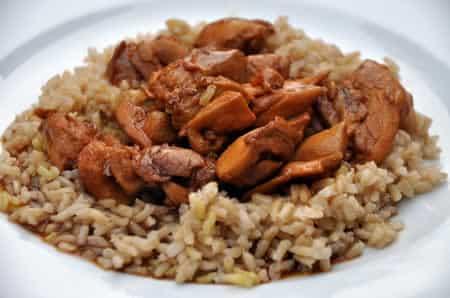 poulet emince riz cookeo