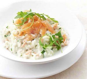 risotto saumon poireaux cookeo