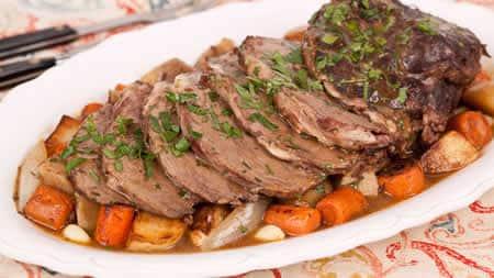 Roti de veau aux légumes au cookeo