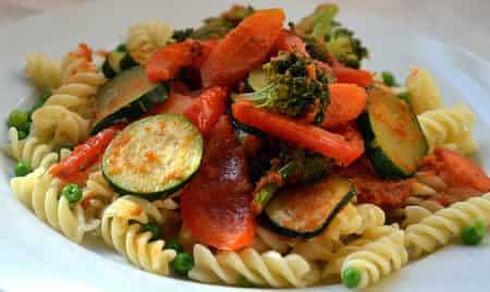 tagliatelles legumes lardons cookeo