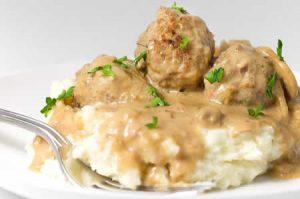boulettes de viande avec sauce roquefort au cookeo