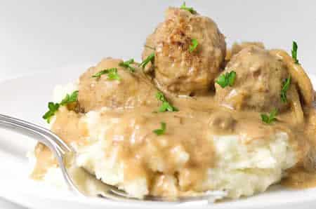 boulettes de viande sauce roquefort cookeo