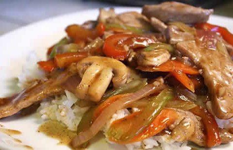 Echine de porc aux légumes au Cookeo