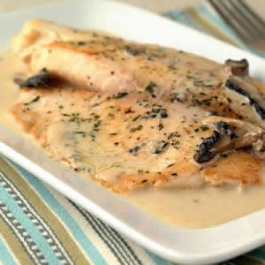 filets de poulet avec creme moutarde