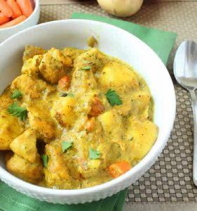 recette poulet curry oignons