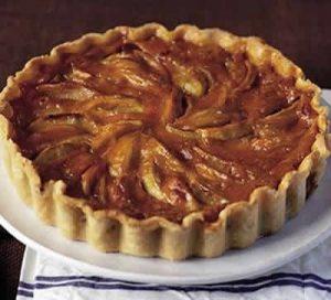 tarte aux pommes chocolat amandes