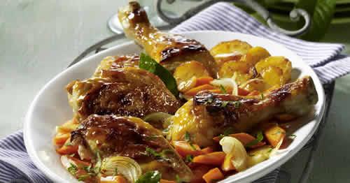 Cuisse poulet moutarde recette facile pour votre plat - Cuisse de poulet au four moutarde ...