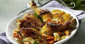cuisse poulet moutarde