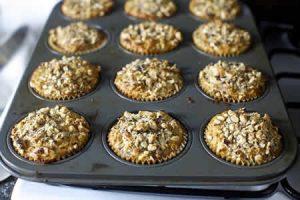muffins aux noisettes banane