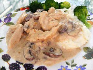 emince de veau aux champignons