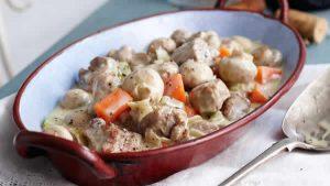 blanquette de veau aux champignons creme fraiche