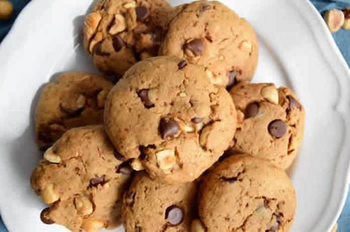 cookies noisettes chocolat