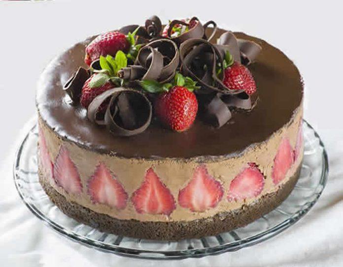gateau chocolat fraise