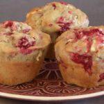 Muffins chocolat blanc et framboises au thermomix