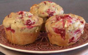 muffins chocolat blanc framboises thermomix