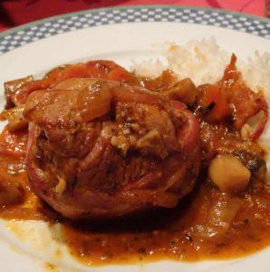 paupiettes de veau oignons tomates