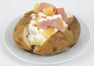 pommes de terre four jambon