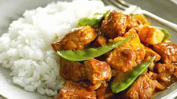 porc curry cookeo