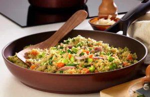 risotto lardons aux legumes