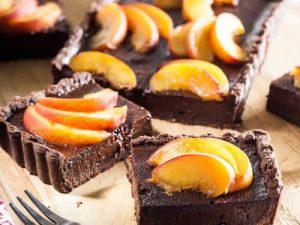 tartelette chocolat peches