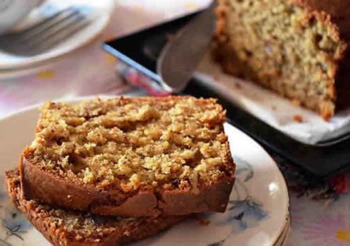 cake aux pommes noix
