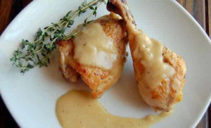 cuisses de poulet moutarde
