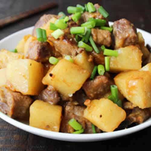 porc pommes de terre cookeo