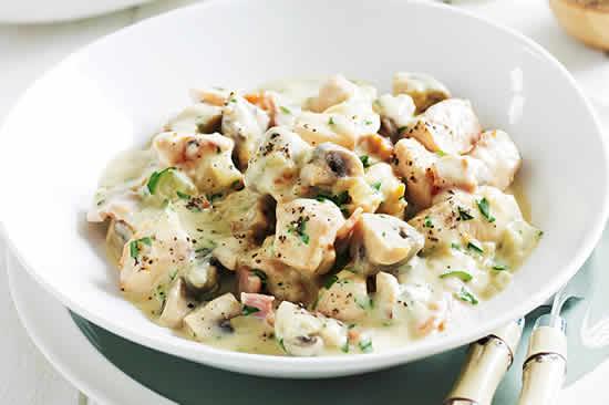 blanc de poulet champignons cookeo