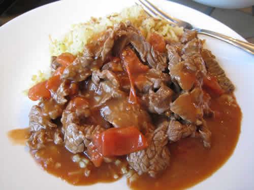 boeuf aux tomates riz cookeo
