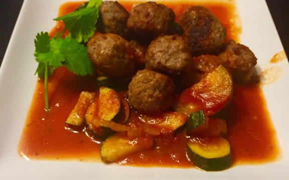 boulettes viande courgettes cookeo