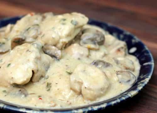 poulet champignon boursin cookeo
