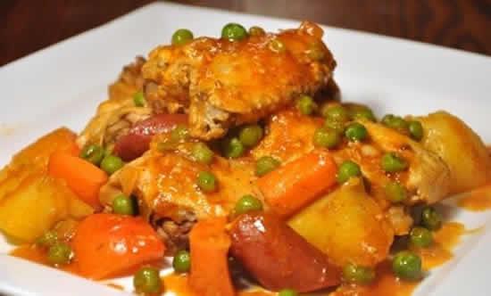 poulet aux pommes de terre chorizo cookeo