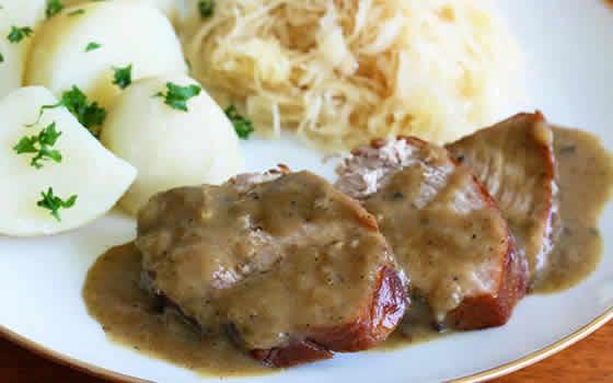 Roti de porc sauce boursin cookeo un plat facile - Cuisiner roti de porc ...