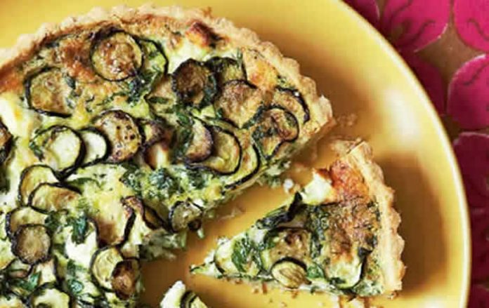 tarte courgette fromage chevre
