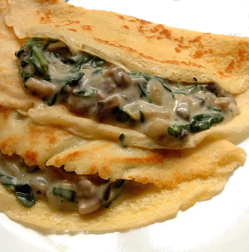 crepes aux champignons thermomix