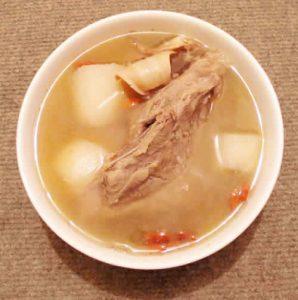 soupe de bouillon os