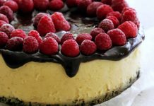 cheesecake chocolat blanc framboises thermomix