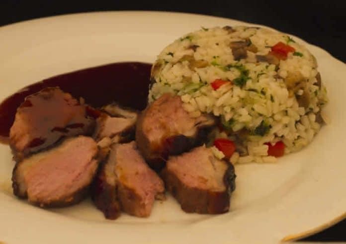 Magret de canard au risotto avec cookeo