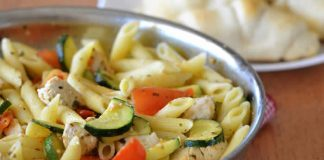 poulet pates courgettes cookeo