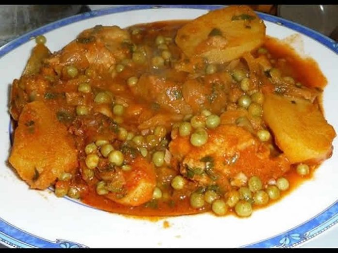 poulet pommes de terre petits pois cookeo