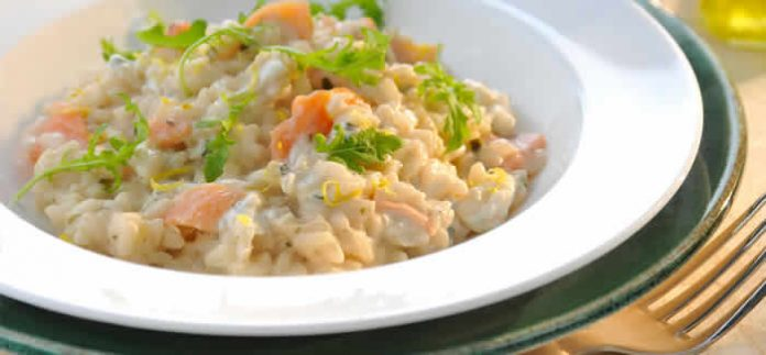 risotto saumon fume cookeo