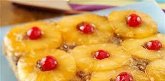 gateau ananas cerises