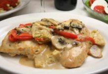 poulet aux champignons creme