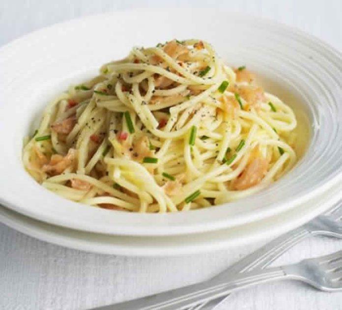 spaghetti saumon cookeo