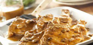 cotelette de porc champignon sauce tomate cookeo