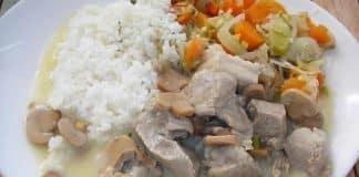 Blanquette de veau riz champignons cookeo