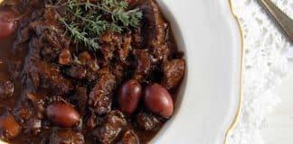 Boeuf bourguignon aux olives cookeo