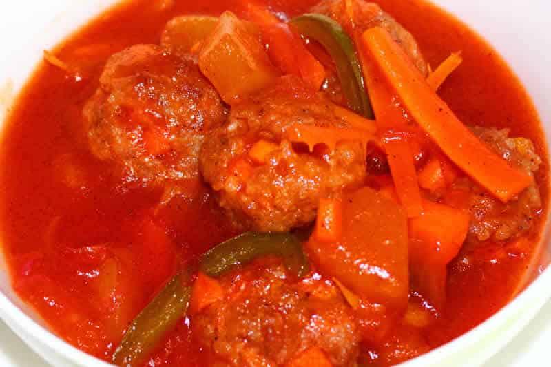 Boulettes de viande la sauce tomate au cookeo - Viande facile a cuisiner ...