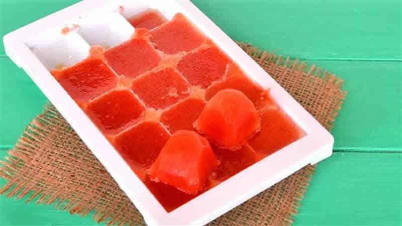 Concentré de tomates au thermomix - recette faite à la maison.